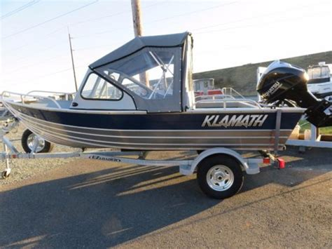 Aluminum Boat With Front R by Klamath Boats Windshield 16 Exw Boats For Sale In Washington