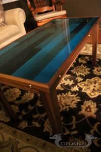 epoxy resin coffee table butcher block drake woodworks With epoxy resin coffee table