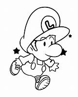 Coloring Luigi Baby Pages Peach Mario Bowser Yoshi Jump Print Learn Monkey Spider Super Getcolorings Printable Drawing Getdrawings Clipartmag Paper sketch template
