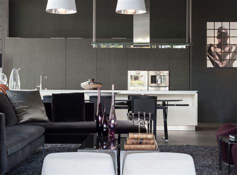 salon salle a manger cuisine salon noir et blanc et salon gris en 50 photos remarquables