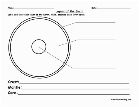 layers of the earth worksheet homeschooldressage