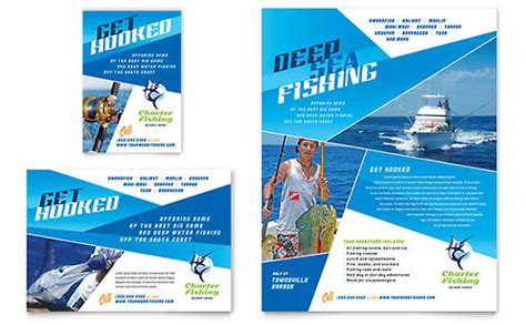 Charter Boat Fishing Pismo by Fishing Charter Guide Rack Card Template Word Publisher