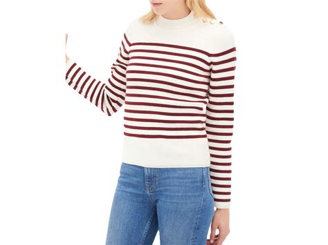 Sandro Saba Striped Sweater In Purple