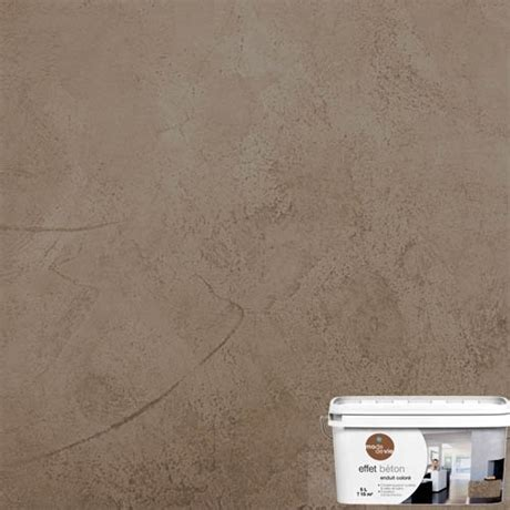 enduit decoratif cuisine enduit décoratif effet béton 5l brun réf 2527066