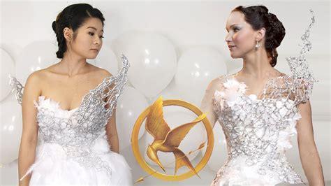 diy hunger catching katniss everdeen wedding dress chung