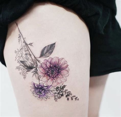 ideas  flower thigh tattoos  pinterest hip thigh tattoos rose tattoo thigh