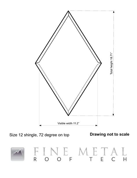 Size 12 x 72 degree shingle dimensions   FINE METAL ROOF TECH