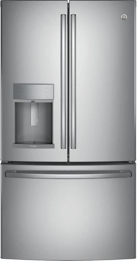 ge profile  cu ft stainless steel counter depth french door refrigerator pyekskss