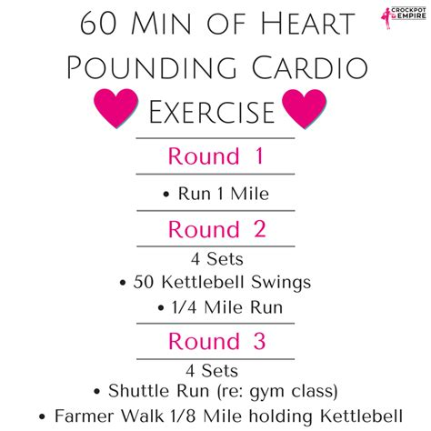 cardio workout minute crusher min exercise heart rounds there