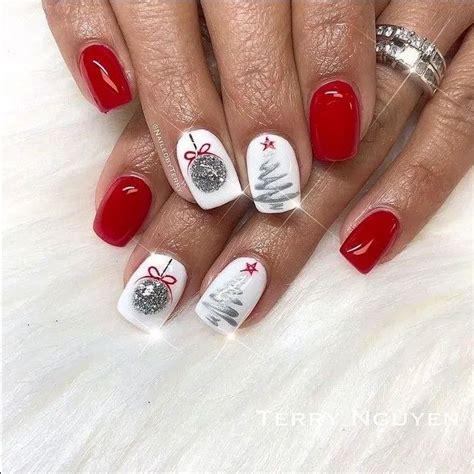 Poly nail gel kit temperature color changing gel. Pin by Lily Ellazan on Nails in 2020 (With images)   Christmas gel nails, Xmas nail art, Xmas nails