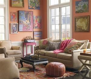 ethnic living room Decorator's Notebook blog