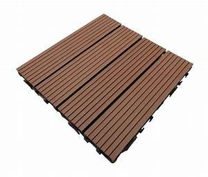 Caillebotis Pour Terrasse : dalle de terrasse bois composite modular l 30 cm l ~ Premium-room.com Idées de Décoration