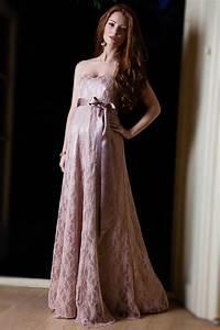 robe de soiree grossesse en dentelle empire garnie de With robe de soirée de grossesse