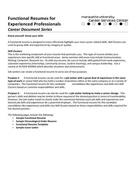 resume for professionals exle functional cv template 2 free templates in pdf word excel
