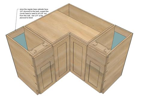 Ana White Diy Kitchen Cabinets by Ana White 36 Quot Corner Base Pie Cut Kitchen Cabinet