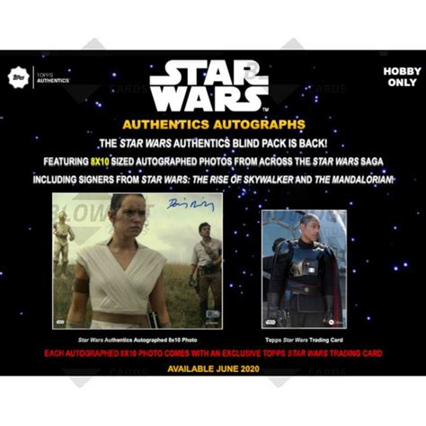 Find deals on products in toys & games on amazon. 2020 Topps Star Wars Authentics Autographed 8x10 Photo & Trading Card Box
