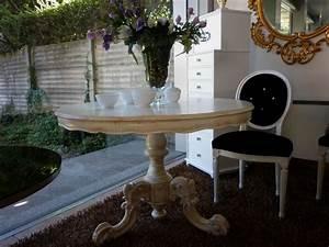 Tavolo Da Pranzo Lineare  In Legno  Rotondo  Classico