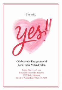 Bbq Birthday Party Invitations She Said Yes Engagement Party Invitation Template Free