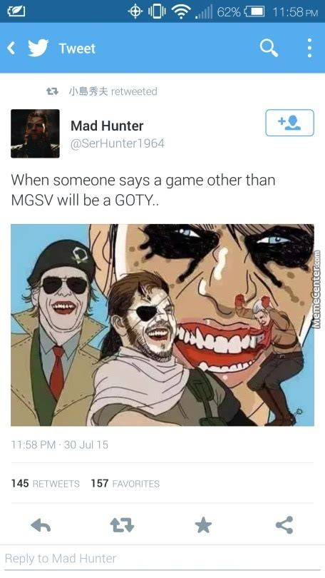 Mgsv Memes - the witcher game of the year over mgsv b tch please by netninja meme center