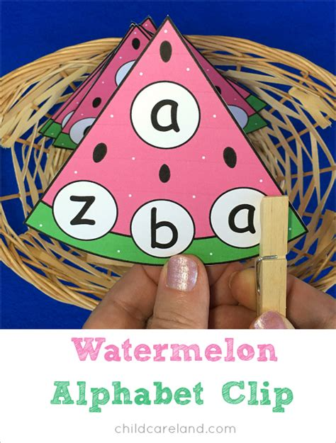 watermelon alphabet clip for letter recognition and 803 | 1d496557ce1d8dcf8f9cde1ac5f9f743