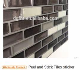 Vinyle peel et baton decoratif dosseret de carreaux de for Carrelage adhesif salle de bain avec led chine importation