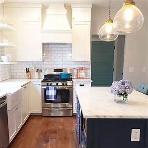 Subway Tile Backsplash In This Gorgeous Kitchen With A