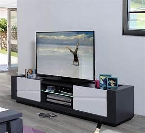 Meuble Tv Tendance : les tendances meuble tv blanc laqu et gris clairage ~ Premium-room.com Idées de Décoration