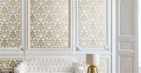 Feature wall design: Ornate wallpaper options   Home