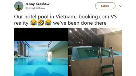 woman shares misleading photo  hotels lavish pool