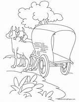 Cart Coloring Bullock Road Trip Standing Sketch Bestcoloringpages Grease Drawing Printable Roads Lightning Sheets Drawings Getcolorings Cross Step Children Template sketch template