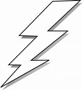 White And Black Lightning Bolt - ClipArt Best