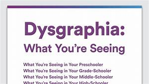 Signs Of Dysgraphia In Preschool  Elementary  Middle And