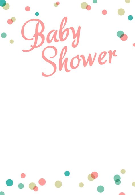 Free Printable Baby Shower Invitations For - dots borders free printable baby shower