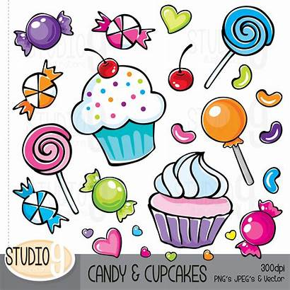 Candy Clipart Candies Clip Cupcake Cupcakes Animated