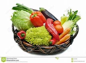 Fresh Vegetables In The Basket Stock Photo - Image: 2523396