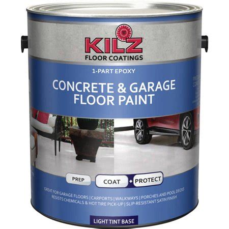 kilz 1 part epoxy concrete and garage floor paint white gallon walmart - Garage Floor Paint At Walmart