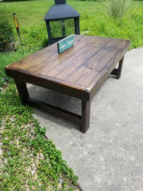 I have partnered with kyle and audrey over at these solid wood side tables are made from all reclaimed lumber and is unique to its own marks, knot holes, nail holes, dents and scratch marks no. RUSTIC COFFEE TABLE Reclaimed Wood Dark Walnut Farm House Farmhouse Country Cabin Living Large ...