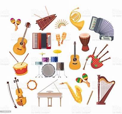 Instruments Musical Various Illustration Festivals Concerts Holidays