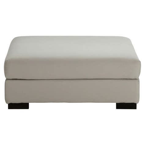 canapé pouf pouf de canapé modulable en coton gris clair terence