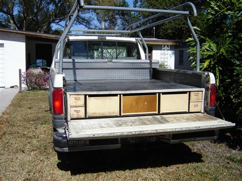 truck bed drawers slide storage drawer tool diy boxes system homemade service outs box contractortalk camping pickup plans body decked