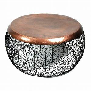 copper drum coffee table coffee table design ideas With copper metal coffee table