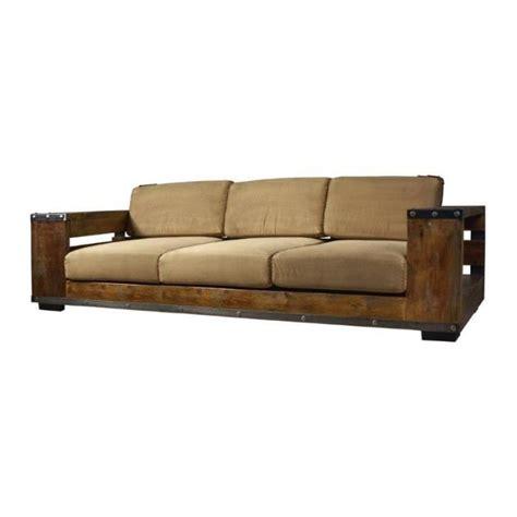 canap bois design canape en bois et tissu maison design wiblia com