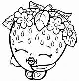 Strawberry Coloring Shoppies sketch template
