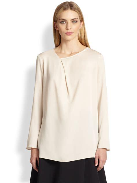 maxmara satin max mara gioco silk blouse in lyst