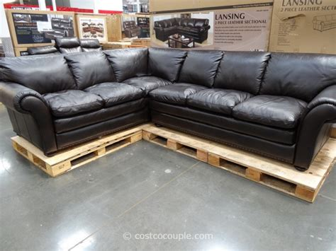 Spectra Sofa by Costco Leather Sectional Sofa Marks And Cohen Lansing 2