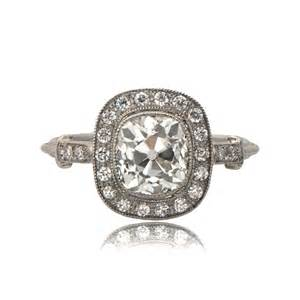 antique cushion cut engagement rings 11251 mine cushion cut engagement ring tv
