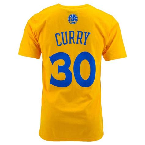 adidas s golden state warriors stephen curry player t shirt in gold for lyst