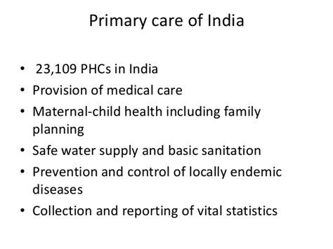 Changing The Face Of Primary Care In India