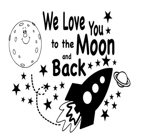 I You To The Moon And Back Kleurplaat by We You To The Moon And Back Rocket