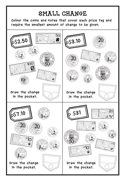 australian money worksheets higher order thinking hots